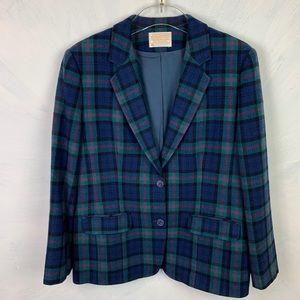 Jackets & Blazers - Vintage Pendleton Plaid Wool Blazer Made ln USA